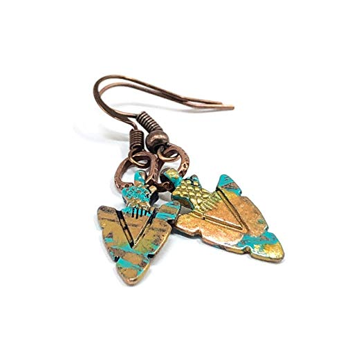 Petite Arrow Hand Painted Dangle Earrings Western Jewelry ()
