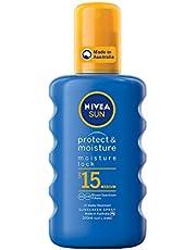 NIVEA SUN Protect & Moisture Caring Sunscreen Spray SPF15, 200ml