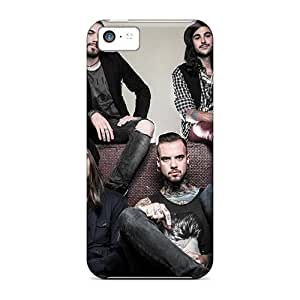 Scratch Resistant Cell-phone Hard Covers For Iphone 5c With Unique Design Attractive Black Veil Brides Band BVB Skin RitaSokul