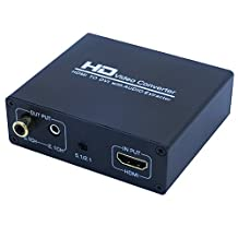 READO HDMI to DVI with audio HDMI to Coaxial HDMI to DVI-I Converter Adapter With a high-definition video converter which convert HDMI digital signal to DVI-D digital signal and analog audio 1080P