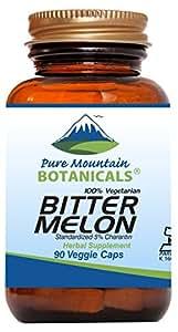 Bitter Melon Capsules - 90 Kosher Vegetarian Caps - 500mg Bitter Melon Extract