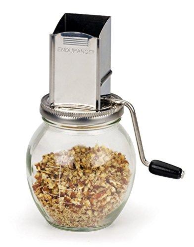 RSVP Endurance Stainless Steel Vintage Inspired 1/4-Cup Nut Grinder