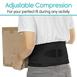 Vive Lower Back Brace – Support for Chronic Pain, Sciatica, Spasms, Nerve and Herniated or Slipped Disc – Adjustable Lumbar Wrap for Pain Management and Relief