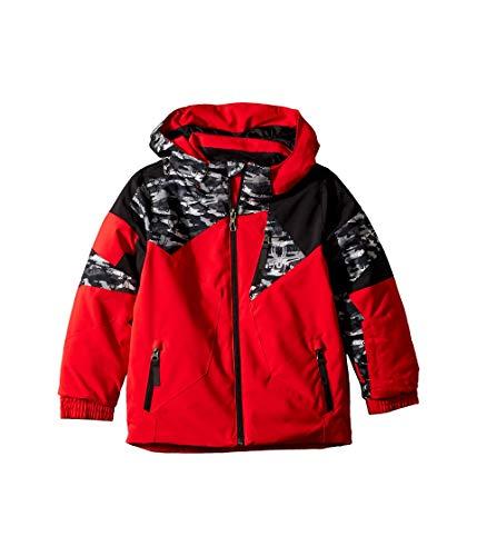Spyder Kids Boy's Leader Jacket (Toddler/Little Kids/Big Kids) Red/Spyder Camo Black/Black 5 Little Kids (Snowboard Spyder Jacket Boys)