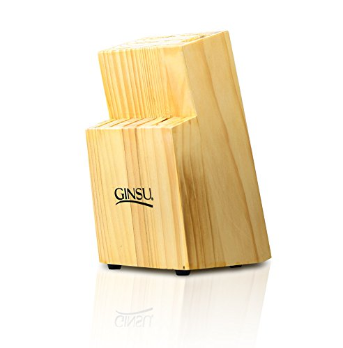 Ginsu Essential Series Kitchen Knife Storage and Organizer - 13 Slot Knife Block in a Natural Finish, 13703290V-GDS