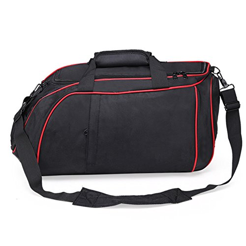 vinmax Gym Shoulder Bag Sports Outdoor Duffle Handle Bag Travel Hand bag with Separate Shoe Compartment (Red) by vinmax