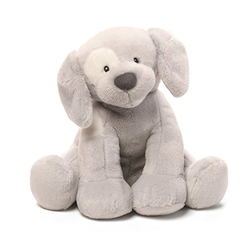 Baby GUND Spunky Dog Keywind Musical Stuffed Animal Plush, Gray, 8