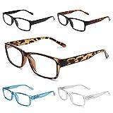 GAOYE 5-Pack Reading Glasses Blue Light Blocking