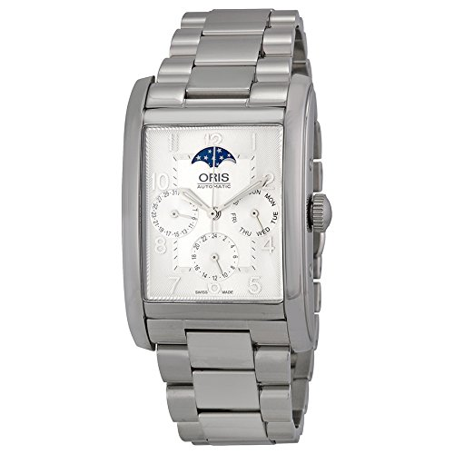Oris Rectangular Complication Automatic Silver Dial Stainless Steel Mens Watch 582-7694-4061MB
