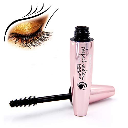 Vanelc 3D Black Mascara 4D Silk Fiber Lash Lengthening Thick Curling Waterproof Long lasting Eye Makeup Extension Tool (Waterproof Curling Mascara)