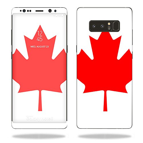 MightySkins Skin Compatible with Samsung Galaxy Note 8 - Canadian Flag   Protective, Durable, and Unique Vinyl Decal wrap Cover   Easy to Apply, Remove, and Change Styles   Made in The USA