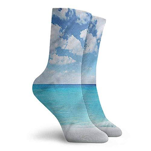 Women's Novelty Ocean Hawaiian Seascape Hiking Walking Socks -