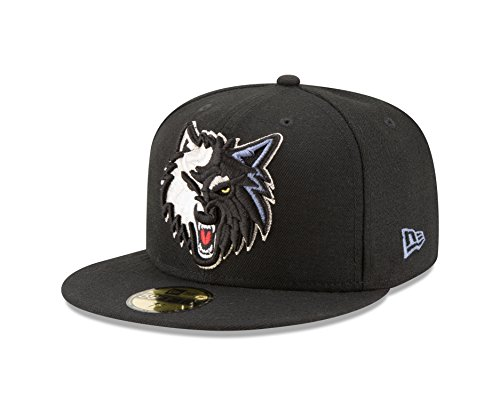NBA Minnesota Timberwolves Logo Grand Fitted 59Fifty Cap, 7.375, (Logo 59fifty Fitted Cap)