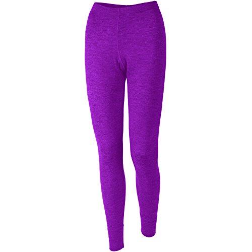 MERIWOOL Women's Merino Wool Midweight Baselayer Bottom - Purple/M (Layers Clothing)