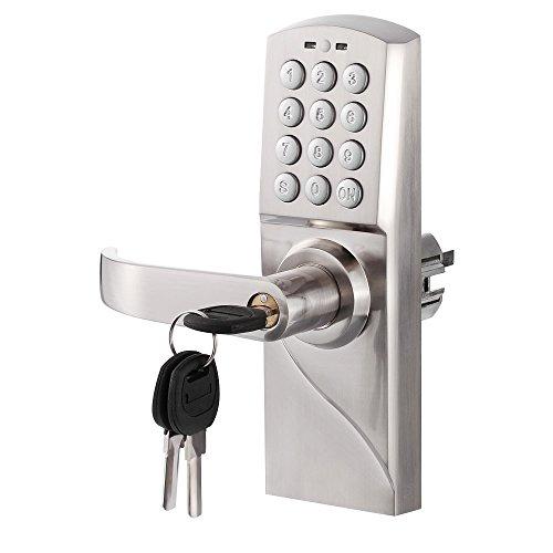 Homgeek Electronic Keyless Keypad Door Lock Digital Code Security Entry , Right/Left Handle Featured Homgeek