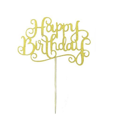20pcs New Glitter Paper Happy Birthday L - Happy Birthday Pick Shopping Results