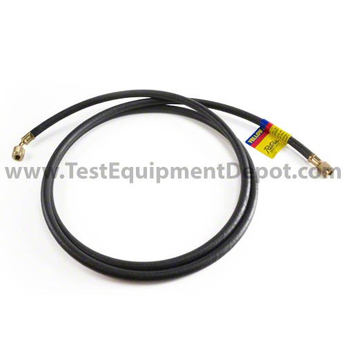Yellow Jacket 15125 Plus II 1/4'' Heavy Duty HCA Straight x Angle Charging Hose, 25', Black