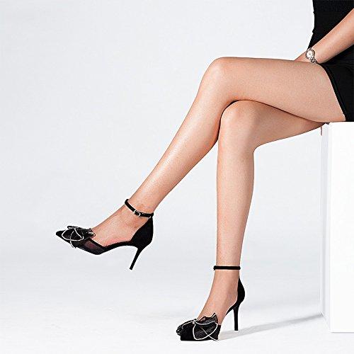 De Mujer UK Malla Arco 23cm Alto Alto JP EU De 36 5 5 De Sandalias Tacón De Zapatos US 3 Cuero De De 5 Gasa JIANXIN Tacón De Zapatos Verano Tamaño 6wEaWFxq