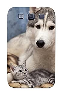 High Quality Tpu Case/ Siberian Husky With A Kitten SkTABpq4519BjHyj Case Cover For Galaxy S3 For New Year's Day's Gift