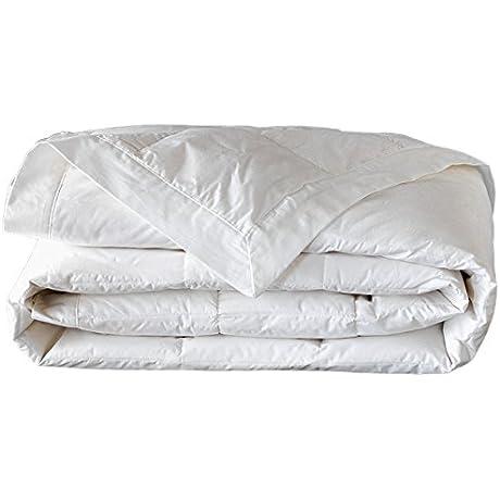 Leyla S Pillows Ambrose Cotton Down Comforter White