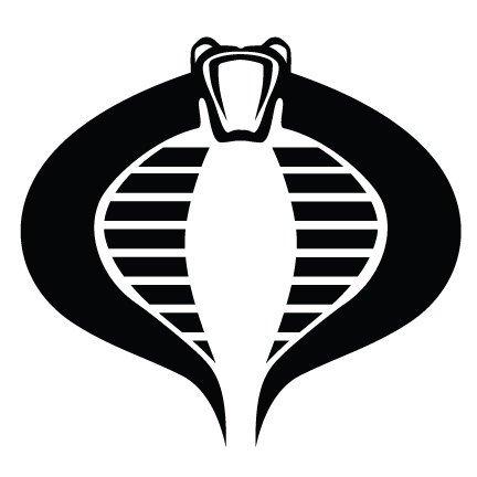 Cobra GI Joe Vinyl Decal Sticker|Cars Trucks Vans Walls Laptops Cups|Black|5.5 In|KCD778