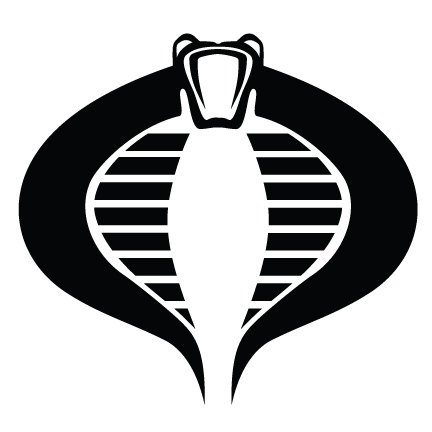 Gi Joe Decals (Cobra GI Joe Vinyl Decal Sticker|Cars Trucks Vans Walls Laptops Cups|Black|5.5 In|KCD778)