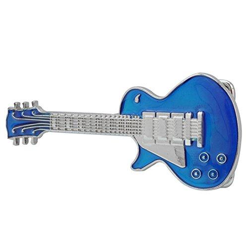 Buckle Rage Adult Unisex Electric Guitar Musician Music Rock Belt Buckle Blue
