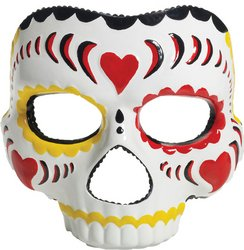 [Latex Mask: Day of the Dead- Female] (Day Of The Dead Female Mask)