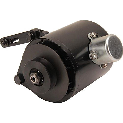Powermaster Performance 82006 PowerGEN Alternator (Ford Black Model A 60A 6V Pos Grd w/Pulley for 5/8