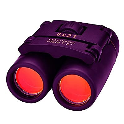 OMORC 8 x 21 Mini Folding Binoculars Telescope with Wide Angle for Outdoor Travel, Sightseeing, Camping, Birdwatching, Hunting
