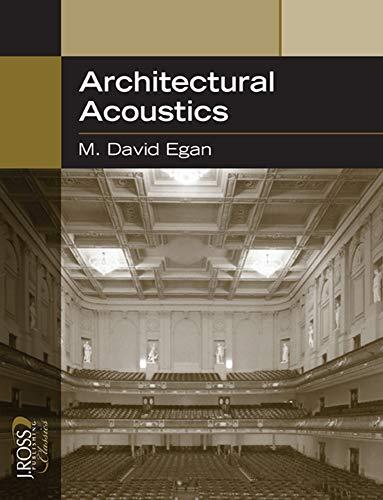Architectural Acoustics (J Ross Publishing Classics)