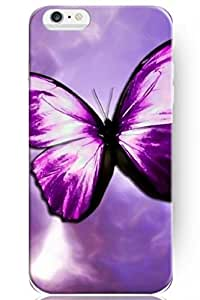 SPRAWL New Classic Vintage Beautiful Design Personalized Hard Plastic Snap on Slim Fit Light Purple Butterfly 5.5 Inch Iphone 6 Plus Case