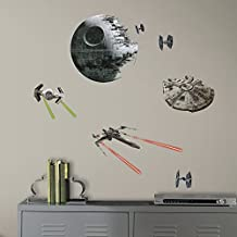RoomMates RMK3012SCS Star Wars EP VII Spaceships P and S Wall Decals, 20 Count