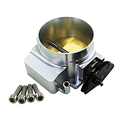 Throttle Body, Electronic Throttle Body Throttle Body for 92mm for GM GEN III LS1 LS2 LS6 Throttle Body LS3 LS LS7 SX LS 4 Bolt Cable,Silver: