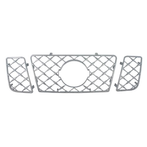 Bully  GI-52 Triple Chrome Plated ABS Snap-in Imposter Grille Overlay, 3 Piece ()
