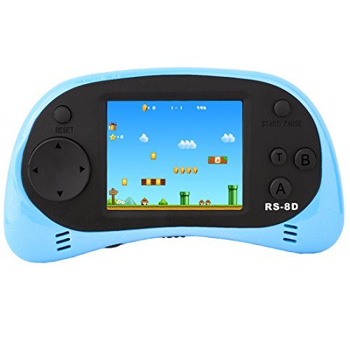 ZHISHAN Handheld Game Console for Children Built in 260 Classic Old Video Games Retro Arcade Gaming Player Portable Playstation Boy Birthday (Light Blue)