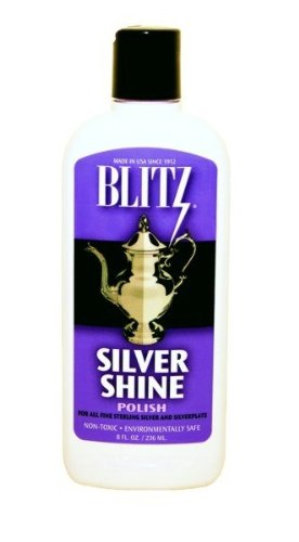 Blitz Silver Shine Polish Non-toxic Environmentally Safe 8 Oz