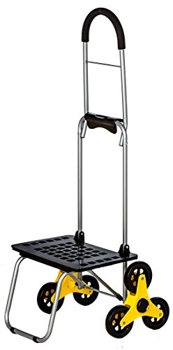 dbest products Stair Climber Bigger Mighty Max Personal Dolly, Sunflower Handtruck Cart Hardware Garden Utilty ()