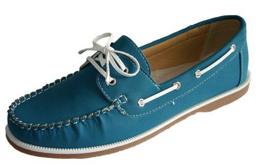 Femmes Coolers Faux Cuir Nubuck Mocassins Lacet Chaussures Bateau Tailles 4 - 8 - Vert, EU 39