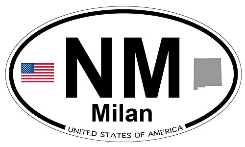 Milan, New Mexico Oval Magnet