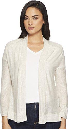 - Three Dots Women's Space Dye Linen Loose Open Cardigan, Beige Heather, Medium