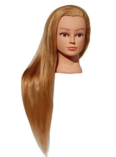 HairZtar 100% Human Hair (Super Long) 26 - 28 Mannequin Head Hairdresser Training Head Manikin Cosmetology Doll Head (RACHEL)