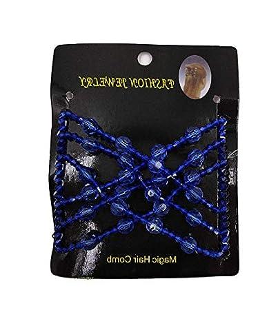 Fogun Femme Magique Peigne Bresilien Accessoire Cheveaux,Peigne Magique a élastique (noir)