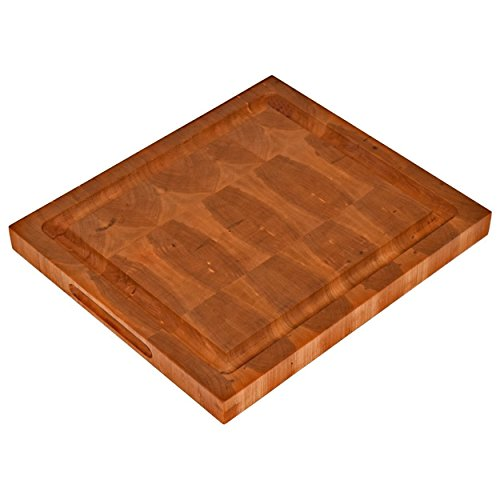 Cherry End Grain Wood Chopping Block Large Handmade Cutting Board