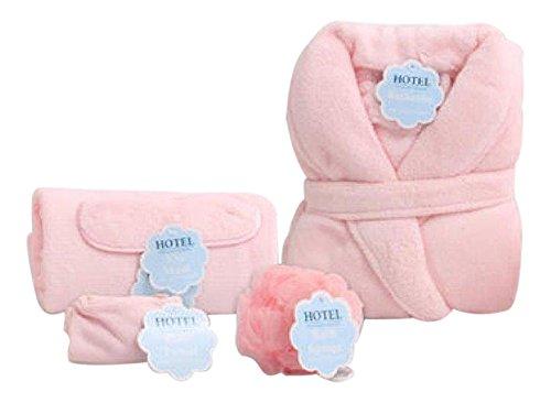 Hotel Fine Bath Fashions 63332 Soft Pink 5 Piece Women's Luxurious Spa Set
