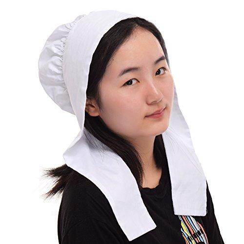 GRACEART Women's Mob Cap Bonnet Colonial Costume Accessory 100% Cotton (Style-4) by GRACEART (Image #2)