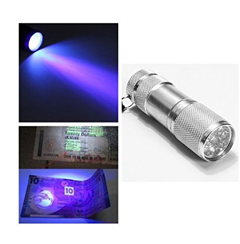 DLLL Aluminium Blacklight Flashlight Sterilization