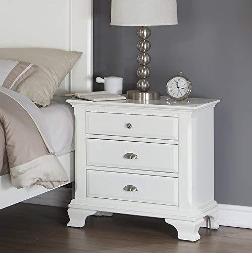 Roundhill Furniture B012KDMN2C Bedroom Furniture Bed Dresser King White by Roundhill Furniture