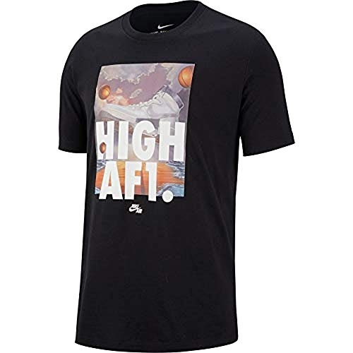 Nike Sportswear Mens High AF1 T-Shirt Black AR5042-010 (X-Large)