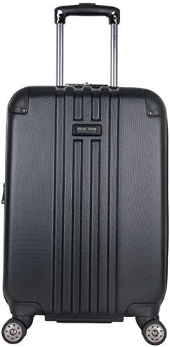 "Kenneth Cole Reaction Reverb 20"" Hardside Expandable 8-Wheel Spinner Carry-on Luggage, Black"